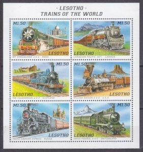 1996 Lesotho 1178-1183KL Locomotives 7,00 €