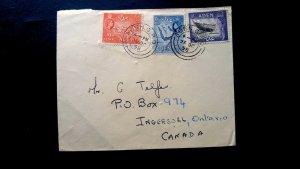 """RARE ADEN 1955 """"SHIPPING LINE- UNION CASTLE"""" COVER TO INGERSOLL, CANADA UNIQUE D"""