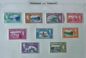 Trinidad & Tobago- Part 1938 George VI Definitive Set - Mint