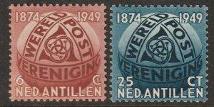 Netherlands Antilles 1949 Sc 206-7 set MNH**