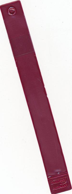 Showgard Tong #904 Round Tip Professional 6 Long With Maroon Plastic Case