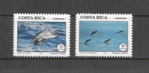 DOLPHINS - COSTA RICA #453-4  MNH
