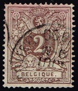 Belgium #55 Numeral; Used (1Stars)