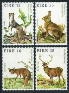 Ireland 480-483,483a,MNH.Michel 421-424 Bl.3. Irish Ermine,Hare,Fox,Red dear.