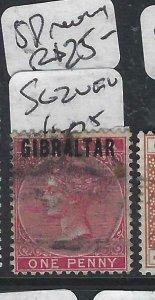 GIBRALTAR  (PP0207B)  QV  OB BERMUDA 1P  SG 2  VFU