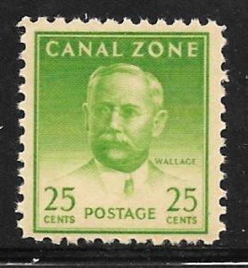 Canal Zone 140a: 25c Wallace, single, MNH, F-VF