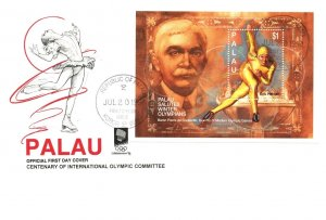Palau, Worldwide First Day Cover, Olympics