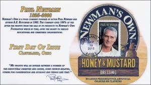 2015, Paul Newman, FDC, BW Postmark, 15-222