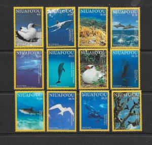NIUAFO'OU #347-58  BIRDS & FISH  MNH
