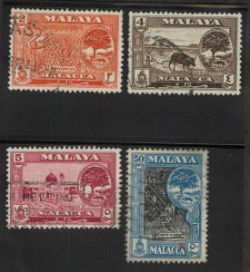 Malaya Malacca 57-59,63 Mint VF H