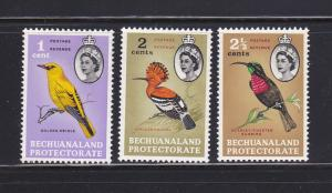 Bechuanaland Protectorate 180-182 MH Birds