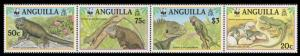 Anguilla WWF West Indian Iguana Strip of 4v SG#1004-1007 SC#968 a-d MI#988-991