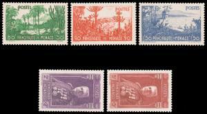 Monaco B19-23 YT135-9 SG144-8 Mi138-42 1937 Louis II/Exotic Gardens MNH €310
