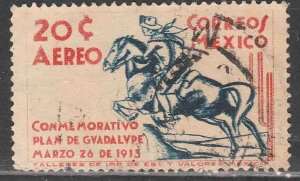 MEXICO C82, 20¢ 25th ANNIVERSARY PLAN OF GUADALUPE. USED, VF. (969)