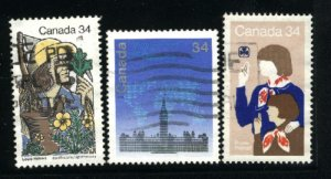 Can #1060-62   -3     used VF 1985 PD