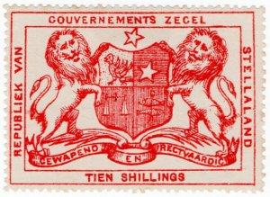 (I.B) Stellaland (Bechuanaland) Revenue : Duty Stamp 10/-