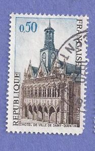 France Scott #1185 City Hall, Saint Quentin (1967) Used