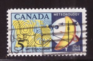 Canada Scott 479 Used stamp typical cancel weather map