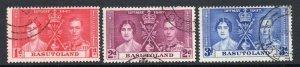 Basutoland 1937 Coronation set used