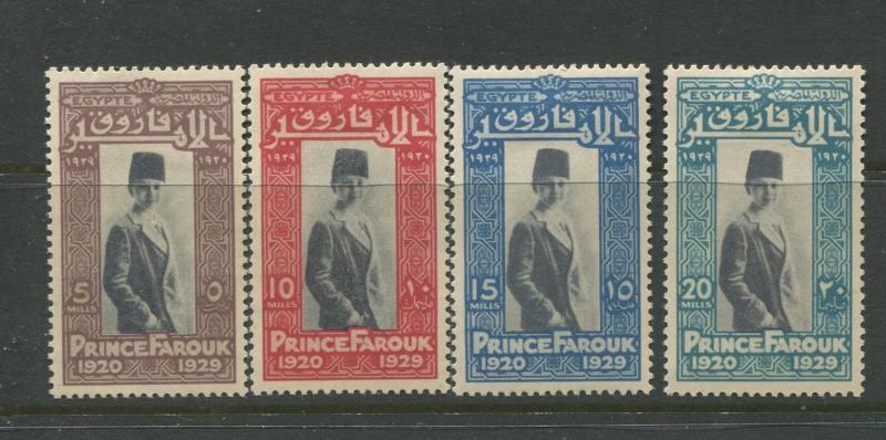 Egypt - Scott 155-158 - General Issue -1929 - MH - Set of 4 Stamps