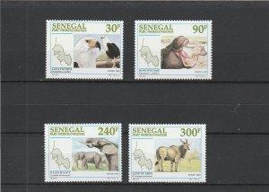 Senegal  Scott#  1262-5  MNH  (1997 Niokolo-Badiar National Park)