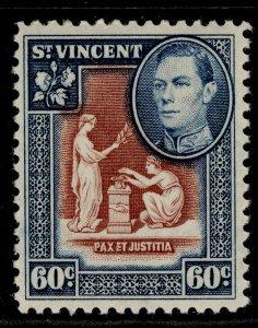 ST. VINCENT GVI SG174, 60c red-brown & blue, M MINT.