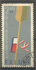 POLAND, 1961, used 2.50z, Kayak Race, Scott 1008