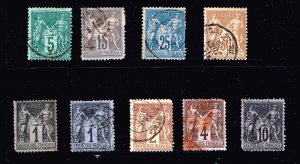 FRANCE STAMP OLD USED STAMP COLLECTION LOT #T4