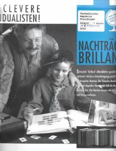 Schaubek Czech Republic Minature Sheets Hingless Supplement 2000