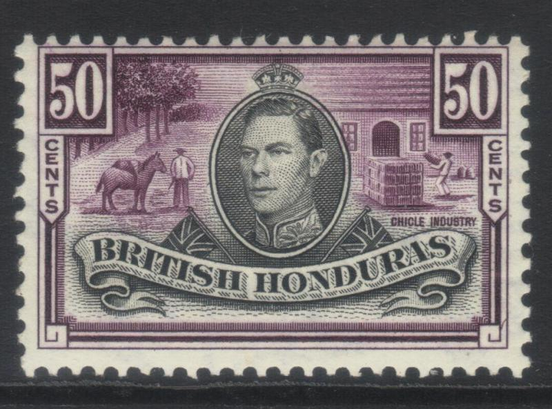 BRITISH HONDURAS 1938-1947 DEFINS SG158 MH CAT £38