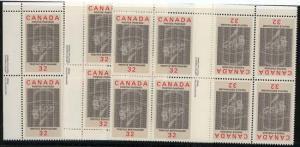 Canada - USC #1044 Mint 1984 Treffle Berthiaume La Presse MS IMP. Blocks mint