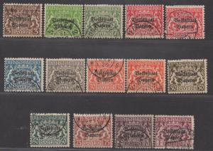 *German States Bavaria SC# O20-30 Used, FVF, Overprints