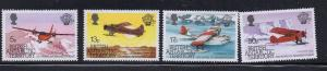 British Antarctic Territory Sc 117-20 1983 Manned Flight stamp set mint NH
