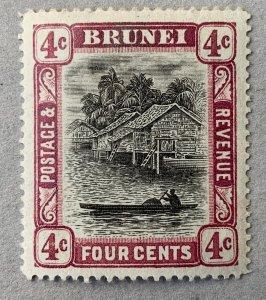 Brunei 1907 4c reddish purple, unused. Scott #19a, CV $80.00.  SG 26a