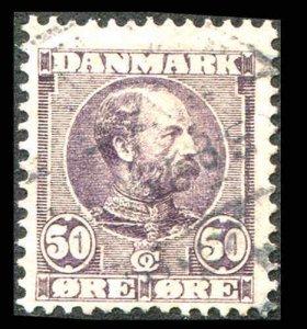 Denmark #68 1905 Dull Violet Used VF CV $120.00