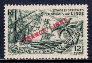 French India - Scott #136 - MH - SCV $6.00
