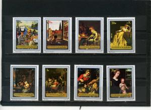 Fujeira MNH MI 1362-9A Art Paintings 1972