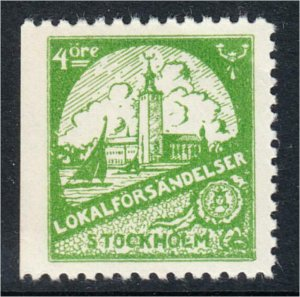 Sweden Stockholm Local Post Stamp Lokalforsandelser c.1940s MNH