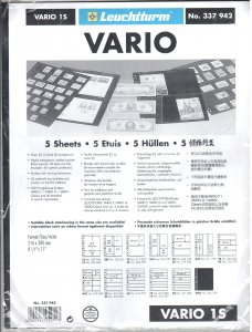 Lighthouse Vario 1S Stock Pages #337942 Ret $5.85