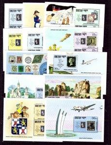 Bhutan 906-17 MNH 1990 12 souvenir sheets    (ap3619)