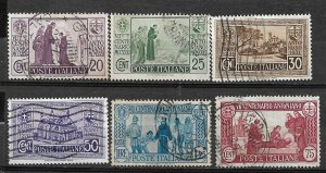 COLLECTION LOT OF # 834 ITALY # 258-63 1931 CV+$31