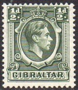 Gibraltar 1938 ½d deep green MH