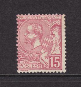 Monaco Sc 17 MLH. 1891 15c rose Prince Albert