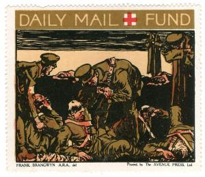 (I.B-CK) Great War Cinderella : Daily Mail Red Cross Fund (Wounded)