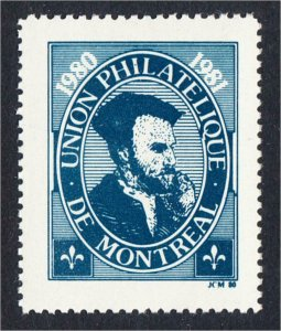 Canada Union Philatelique de Montreal 1980 Stamp Show Label Jacques Cartier UPM