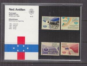 NETHERLANDS ANTILLES,1984 Civil Aviation set of 4, Folder 2.