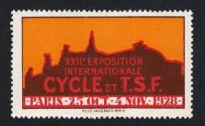 REKLAMEMARKE POSTER STAMP PARIS XXII INTERNATIONAL CYCLE & TSF EXHIBITION 1928