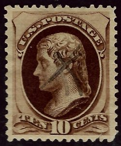 U.S.SC#187 Used VF hr SCV$27.50...Your price, Your Deal!