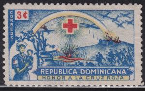 Dominican Rep 410 Used 1944 Red Cross