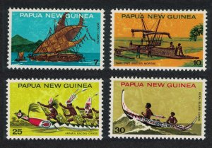 Papua NG National Heritage Canoes 4v 1974 MH SG#277-280